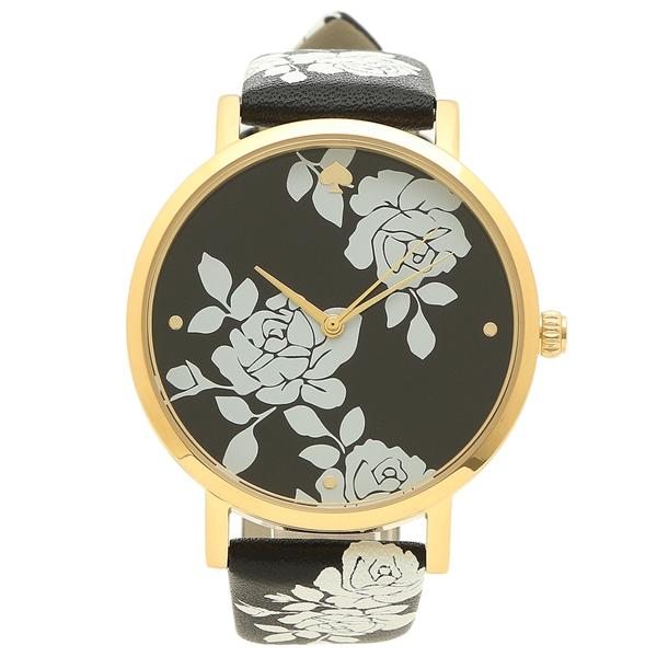 KATE SPADE 腕時計 レディース ケイトスペード KSW1498 ブラック イエローゴールド