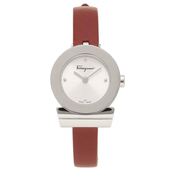 Salvatore Ferragamo 腕時計 レディース フェラガモ F43040017 シルバー レッド パール