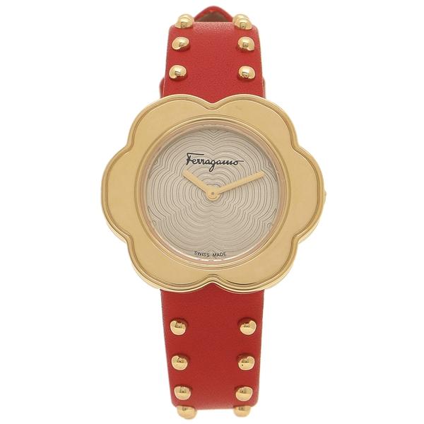 Salvatore Ferragamo 腕時計 レディース フェラガモ SFCR00518 レッド イエローゴールド