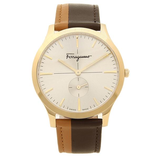 Salvatore Ferragamo 腕時計 レディース フェラガモ SFDE00318 ブラウン イエローゴールド