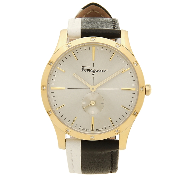 Salvatore Ferragamo 腕時計 レディース フェラガモ SFDF00518 ブラック イエローゴールド