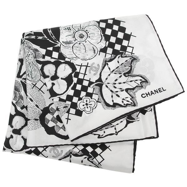 CHANEL ストール レディース シャネル AA0010 X12241 C2176 ホワイト ブラック