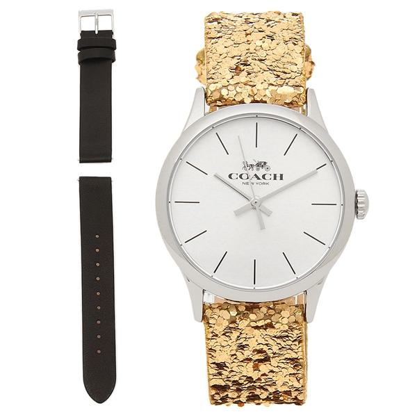 COACH 腕時計 アウトレット レディース 替えベルト付き コーチ W1581 L38 ゴールド シルバー