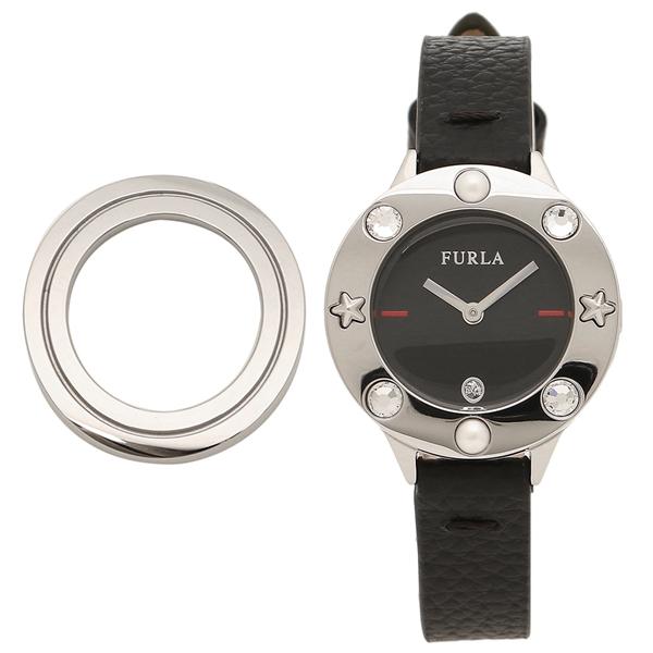 FURLA 腕時計 レディース 替えベゼル付き フルラ 996323 W513 I44 O60 ブラック シルバー