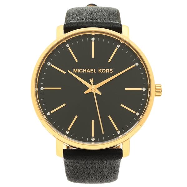 MICHAEL KORS 腕時計 レディース マイケルコース MK2747 ブラック イエローゴールド