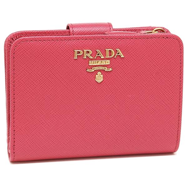 PRADA 折財布 レディース プラダ 1ML018 QWA F0505 ピンク