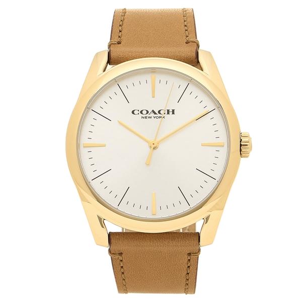 COACH 腕時計 メンズ コーチ 14602398 ブラウン シルバー
