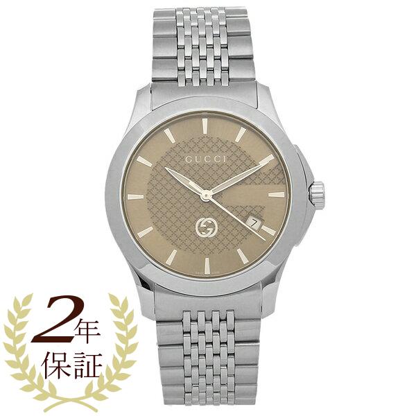GUCCI 腕時計 メンズ グッチ YA1264107 シルバー ブラウン
