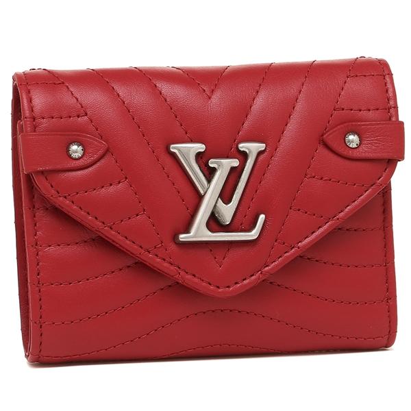 LOUIS VUITTON 折財布 レディース ルイヴィトン M63428 レッド
