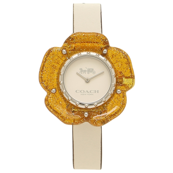 COACH 腕時計 レディース コーチ 14503050 ホワイト オレンジ