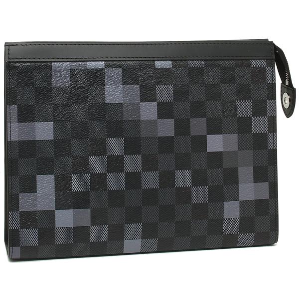 LOUIS VUITTON クラッチバッグ メンズ ルイヴィトン N60175 ブラック マルチ