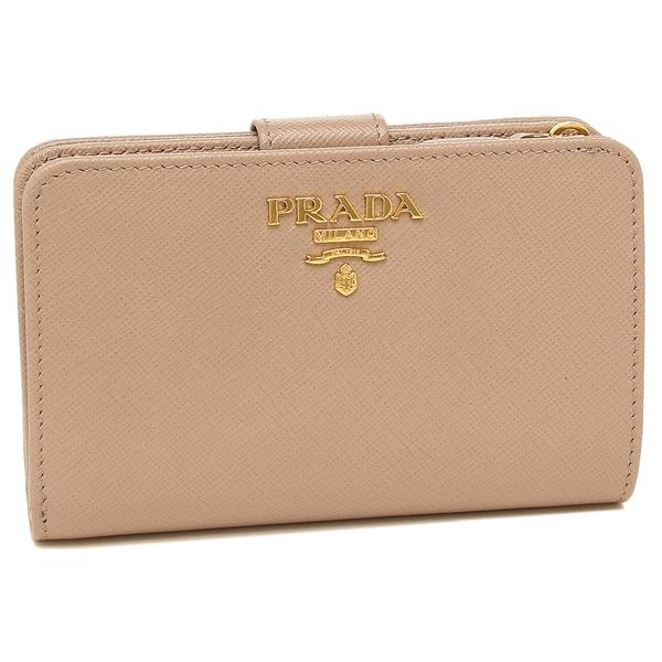 PRADA 折財布 レディース プラダ 1ML225 QWA F0236 ベージュ