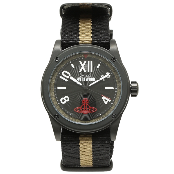 VIVIENNE WESTWOOD 腕時計 メンズ ヴィヴィアンウエストウッド VV194BKBK カーキ ベージュ ブラック