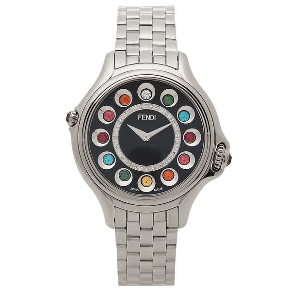 FENDI 腕時計 レディース フェンディ F107021000D2T05 シルバー ブラック マルチカラー