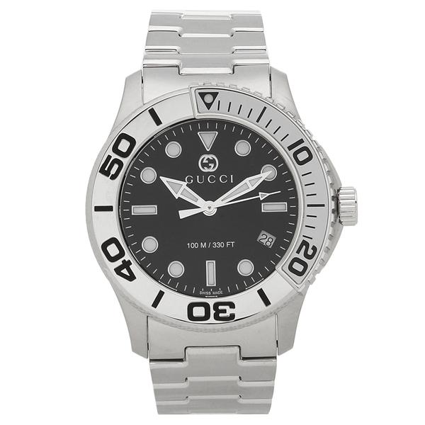GUCCI 腕時計 メンズ グッチ YA126277 シルバー ブラック