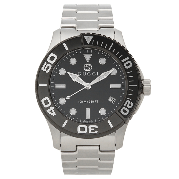 GUCCI 腕時計 メンズ グッチ YA126279 シルバー ブラック