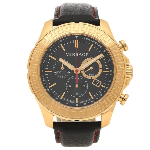 VERSACE 腕時計 メンズ ヴェルサーチ VE1A00218 ブラック ローズゴールド
