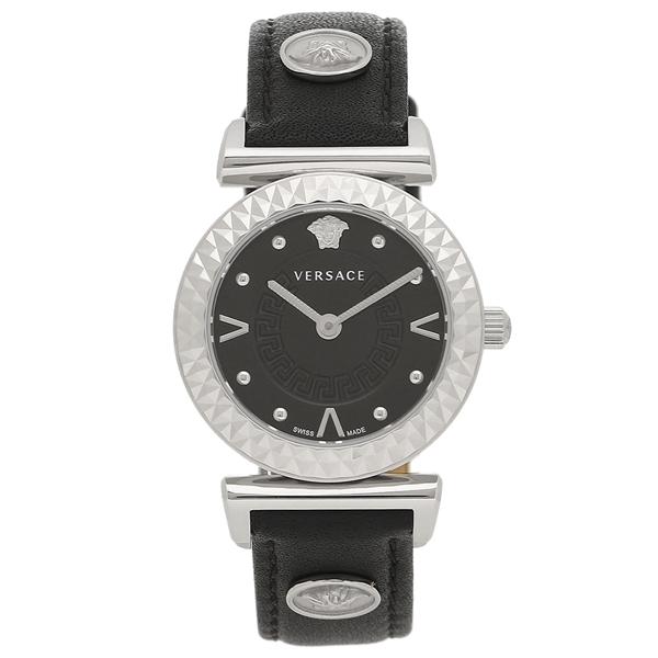 VERSACE 腕時計 レディース ヴェルサーチ VEAA00118 ブラック シルバー