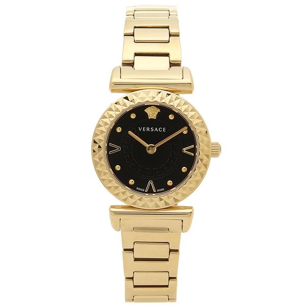VERSACE 腕時計 レディース ヴェルサーチ VEAA00518 ブラック イエローゴールド