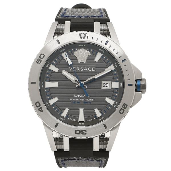 VERSACE 腕時計 メンズ 自動巻き ヴェルサーチ VERC00118 シルバー グレー