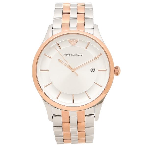 EMPORIO ARMANI 腕時計 メンズ エンポリオアルマーニ AR11044 シルバー ピンクゴールド