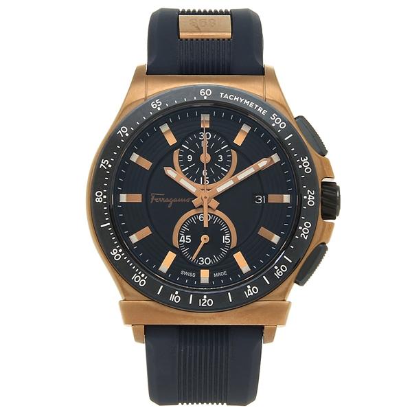 Salvatore Ferragamo 腕時計 メンズ フェラガモ FFJ020017 ネイビーブルー ゴールド