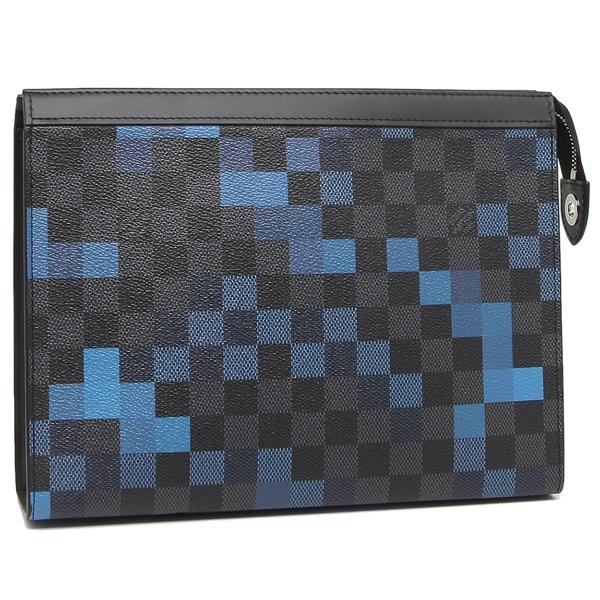 LOUIS VUITTON クラッチバッグ メンズ ルイヴィトン N60174 グレー/ブルー