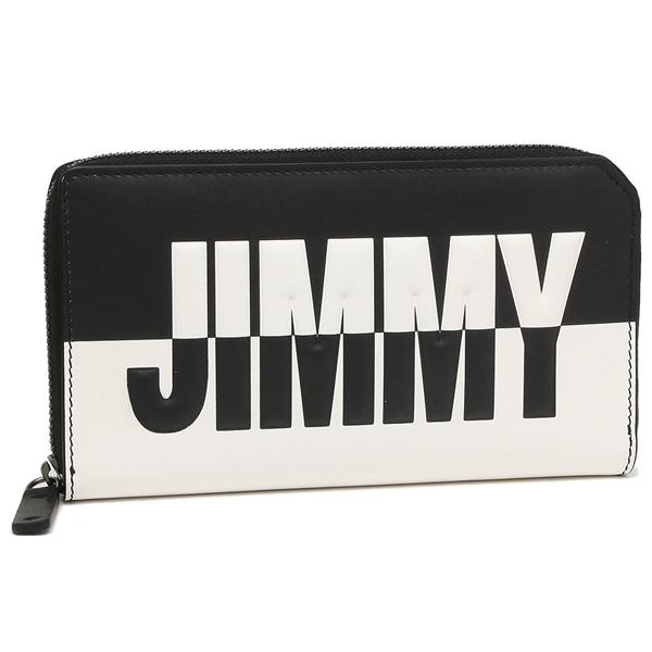 JIMMY CHOO 長財布 メンズ ジミーチュウ CARNABY BBM ブラック ホワイト