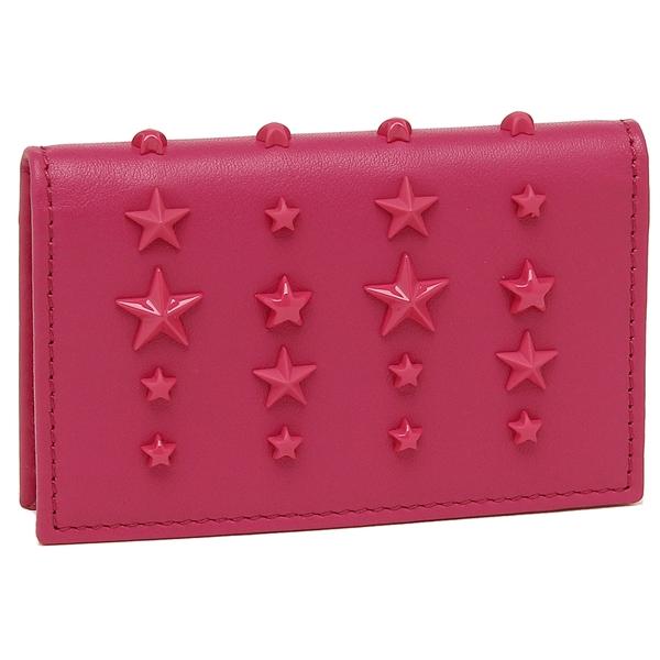 JIMMY CHOO カードケース レディース ジミーチュウ NELLO LXA ピンク