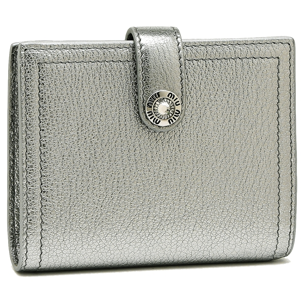MIU MIU 折財布 レディース ミュウミュウ 5MV016 2BWA F0135 シルバー
