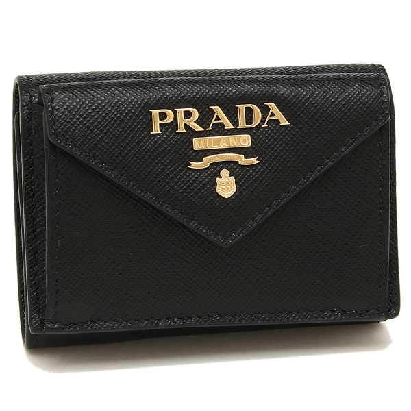 PRADA 折財布 レディース プラダ 1MH021 QWA F0002 ブラック