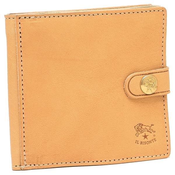 IL BISONTE 折財布 メンズ イルビゾンテ C0816P 120 ナチュラル