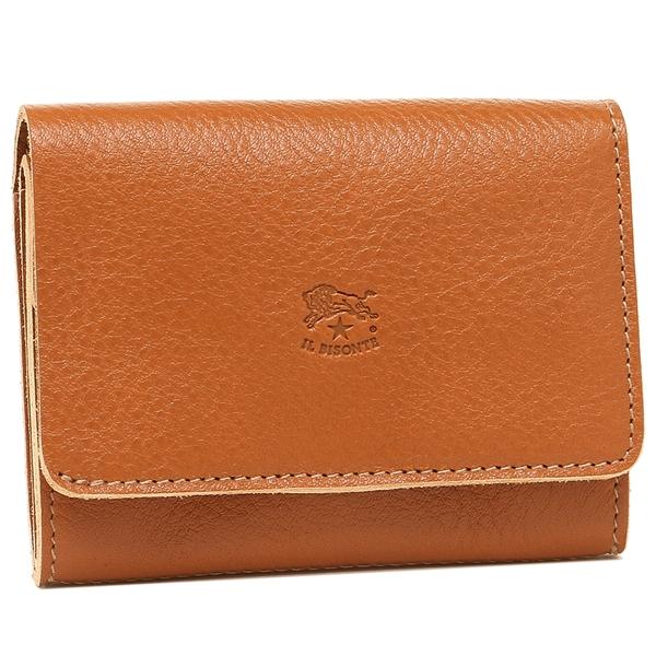 IL BISONTE 折財布 メンズ/レディース イルビゾンテ C1009P 145 キャラメル