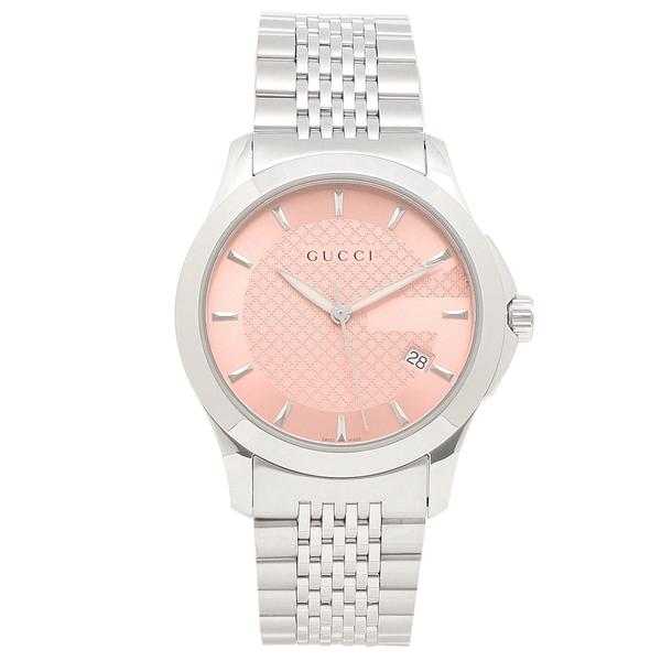 GUCCI 腕時計 メンズ グッチ YA126429 シルバー/ピンク