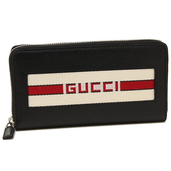 GUCCI 長財布 メンズ グッチ 408831 CWGRN 1094 ブラック/レッド