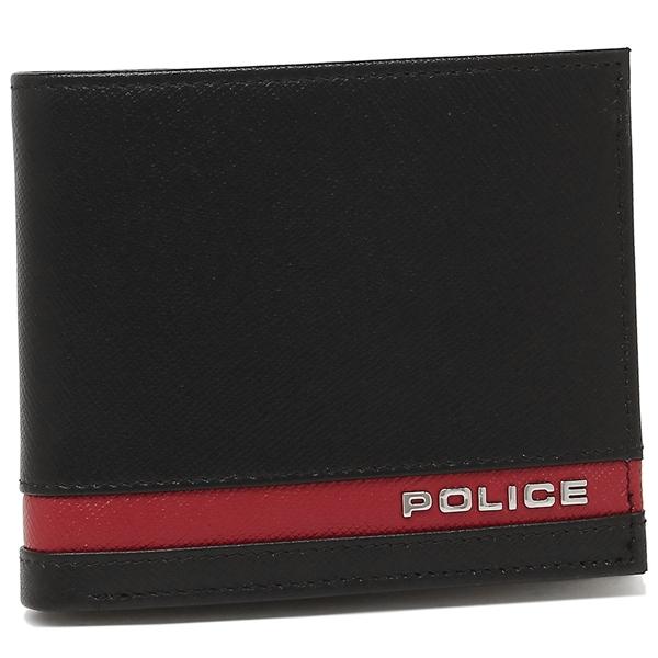 POLICE 折財布 メンズ ポリス PLC138 BKRED ブラック レッド