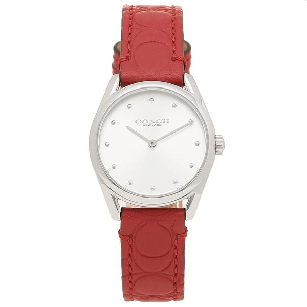 COACH 腕時計 レディース コーチ 14503209 レッド シルバー