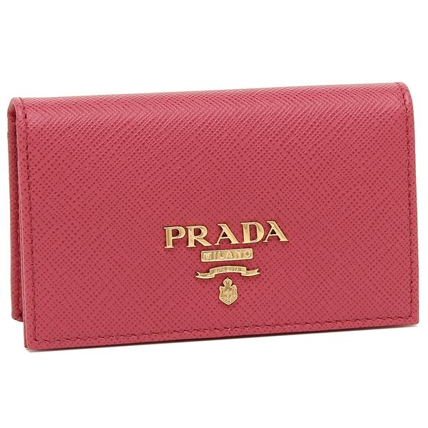PRADA カードケース レディース プラダ 1MC122 QWA F0505 ピンク