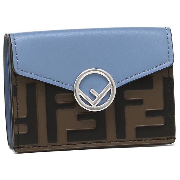 FENDI 折財布 レディース フェンディ 8M0395 A659 F15S2 ブルー ブラウン