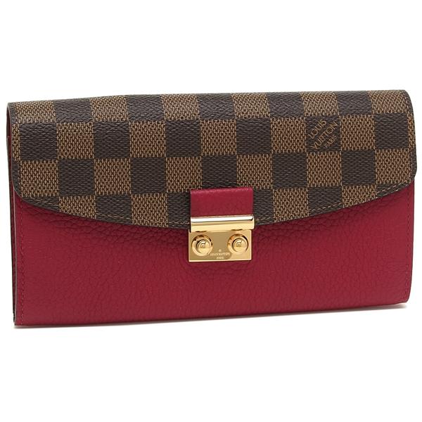 LOUIS VUITTON 長財布 レディース ルイヴィトン N60207 ブラウン/ピンク