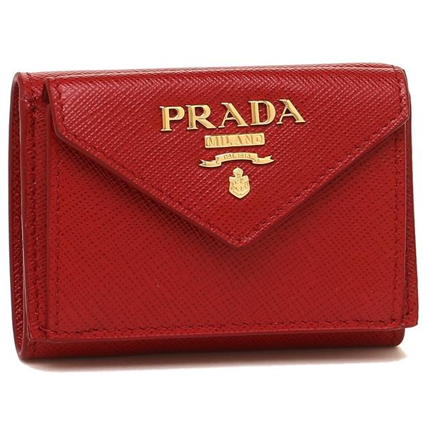 PRADA 折財布 レディース プラダ 1MH021 QWA F068Z レッド