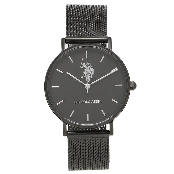 US POLO ASSN 腕時計 レディース メンズ ユーエスポロ US-1B-BBK ブラック