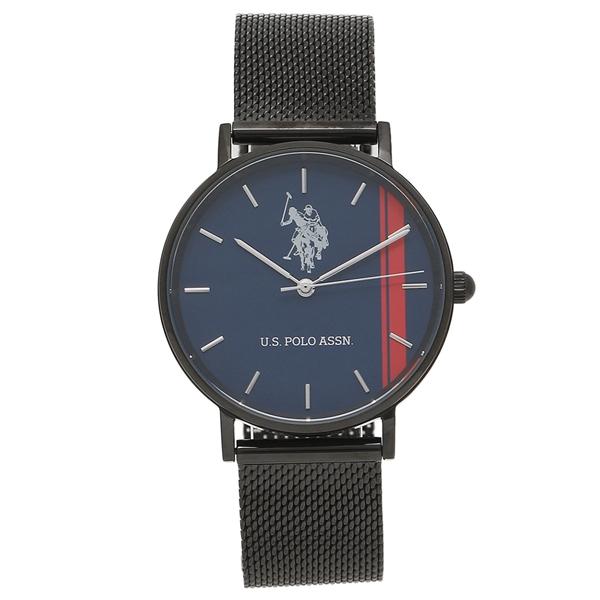US POLO ASSN 腕時計 レディース メンズ ユーエスポロ US-1B-NBK ブラック ブルー