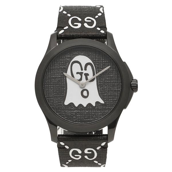 GUCCI GUCCI 腕時計 メンズ レディース レディース ゴースト グッチ YA1264018 ブラック ブラック, ヒロネットショップ:fb93a600 --- makeitinfiji.com