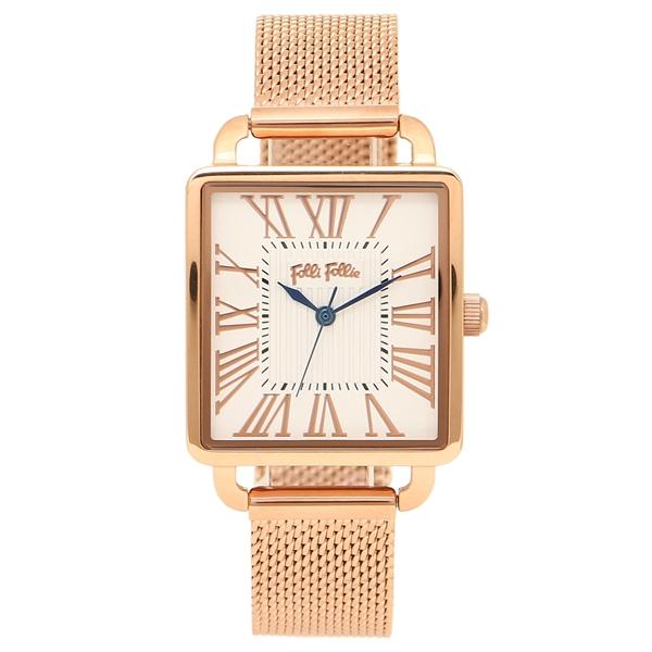 FOLLI FOLLIE 腕時計 レディース フォリフォリ WF16R012BPS-XX ピンクゴールド ホワイト
