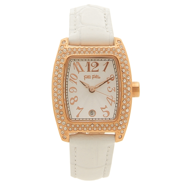 FOLLI FOLLIE 腕時計 レディース フォリフォリ WF5R081SDS-WH ホワイト ピンクゴールド