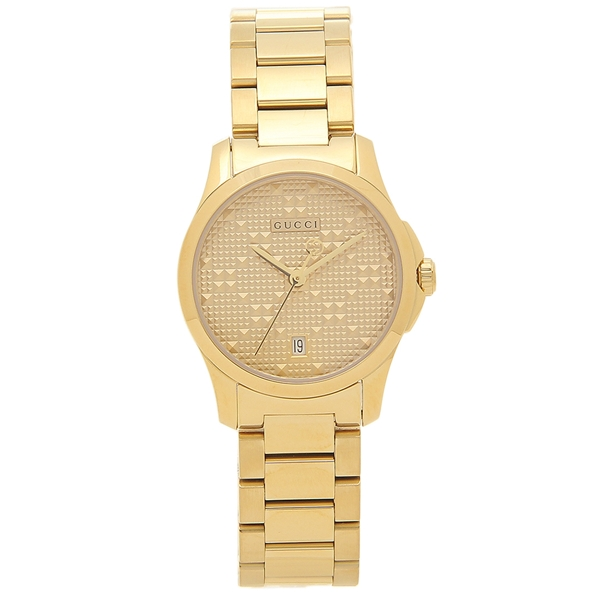 GUCCI 腕時計 レディース 自動巻き グッチ YA126553 イエローゴールド ゴールド