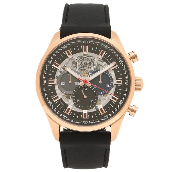 SONNE 腕時計 メンズ 自動巻き ゾンネ H022PG-BK ブラック