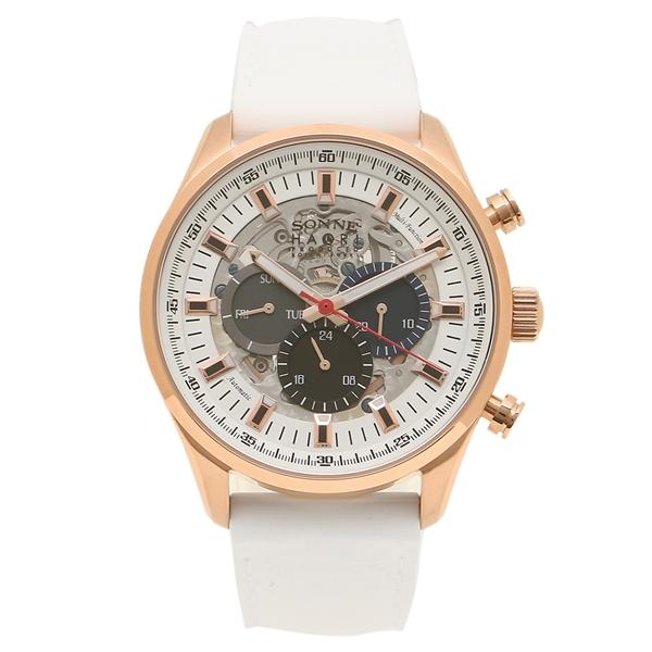 SONNE 腕時計 メンズ 自動巻き ゾンネ H022PG-WH ホワイト