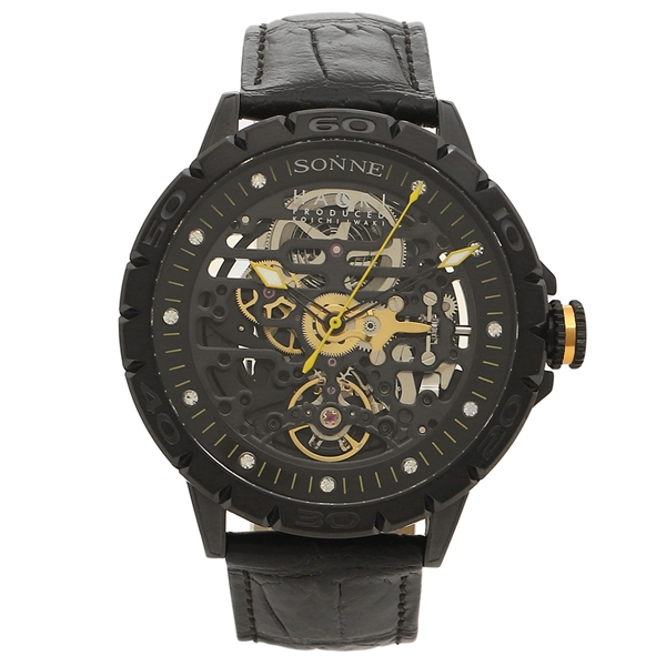 SONNE 腕時計 メンズ 自動巻き ゾンネ H023BK-BK ブラック